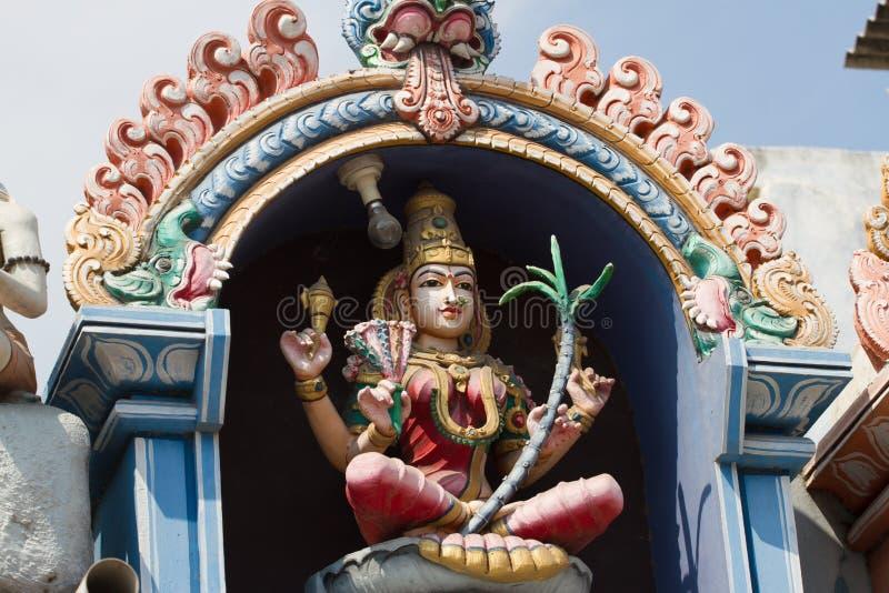 Lättnad av templet i Kanchipuram, Tamil Nadu, Indien arkivbild
