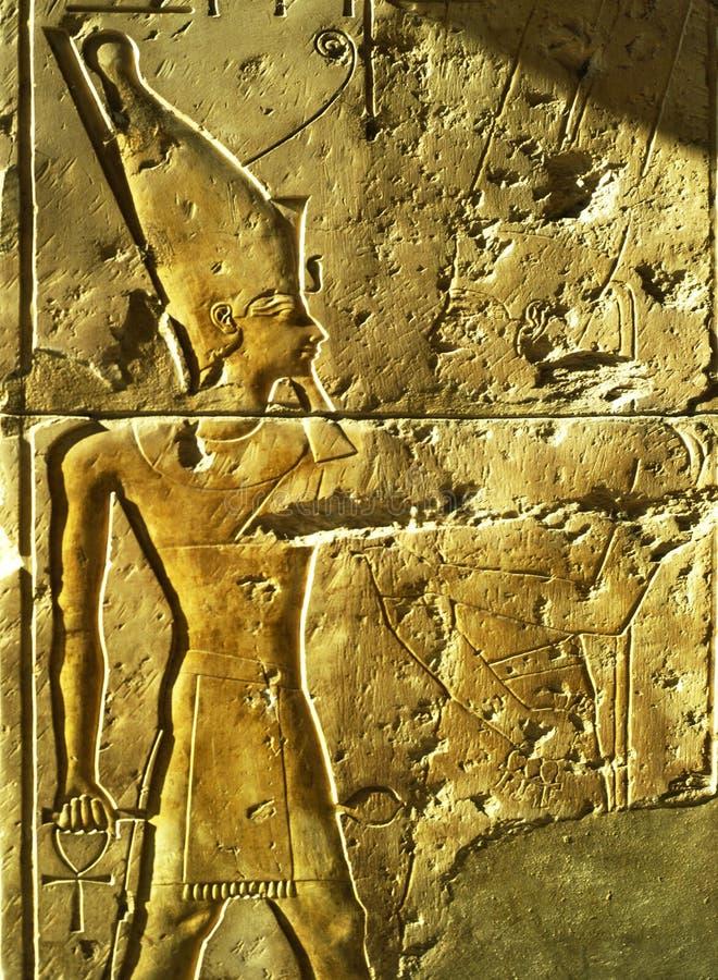 Lättnad Egypten arkivfoton