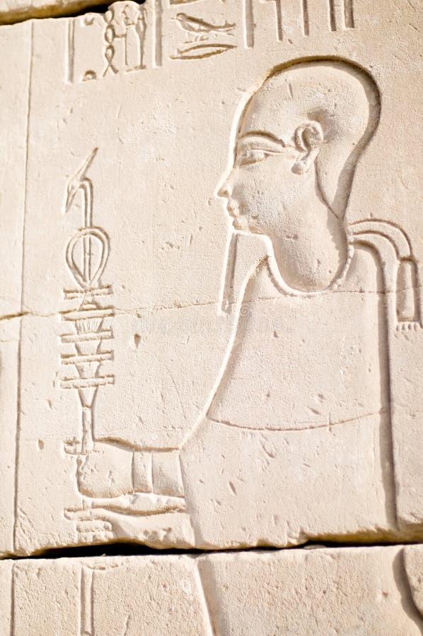 lättnad för ptah för egypt gudkarnak arkivbilder
