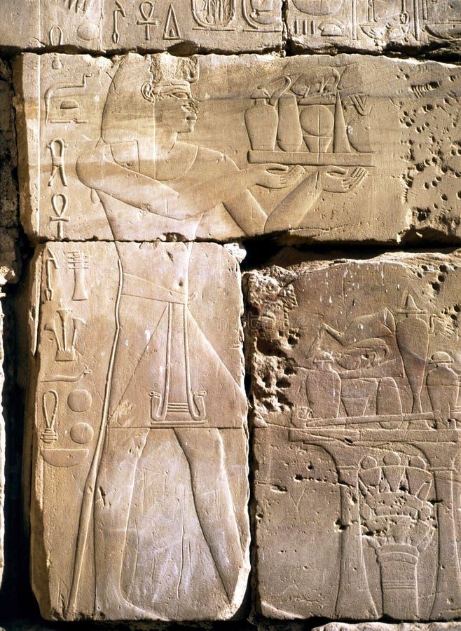 Lättnad i Luxor arkivbilder