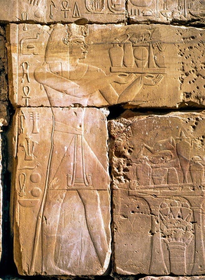 Lättnad i Luxor royaltyfria bilder