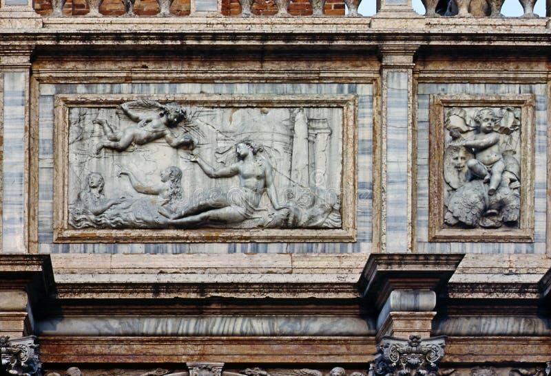 Lättnad i Venedig royaltyfria bilder