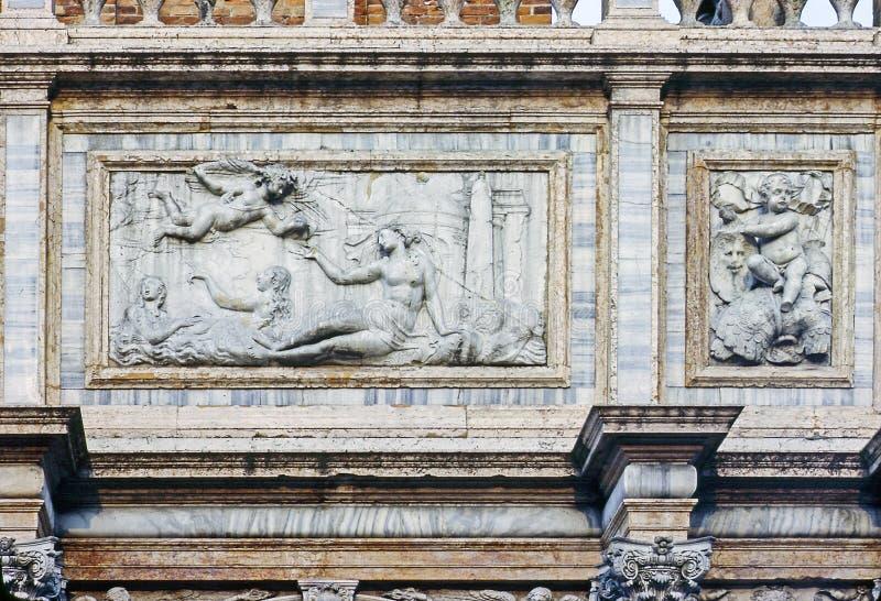 Lättnad i Venedig arkivfoton