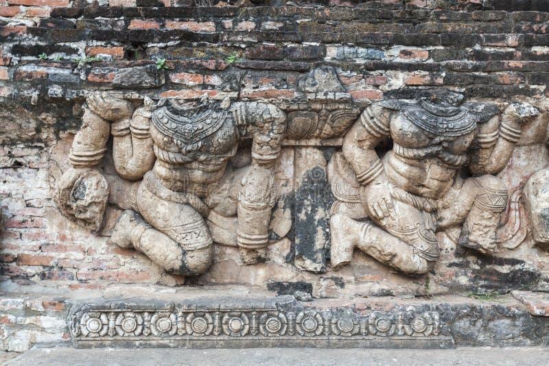 Lättnad på Ayutthaya royaltyfria bilder