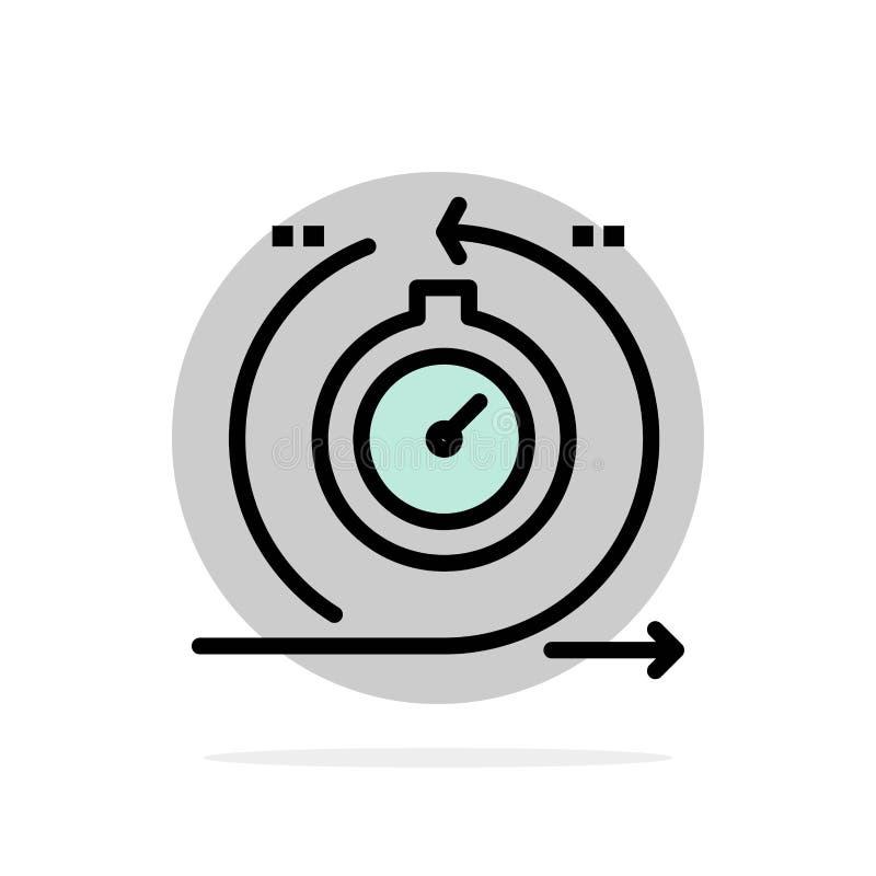 Lättrörligt cirkulering, utveckling som är snabb, för abstrakt symbol för färg cirkelbakgrund för upprepning plan royaltyfri illustrationer