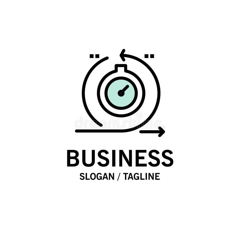 Lättrörligt cirkulering, utveckling som är snabb, upprepningsaffär Logo Template plan f?rg stock illustrationer