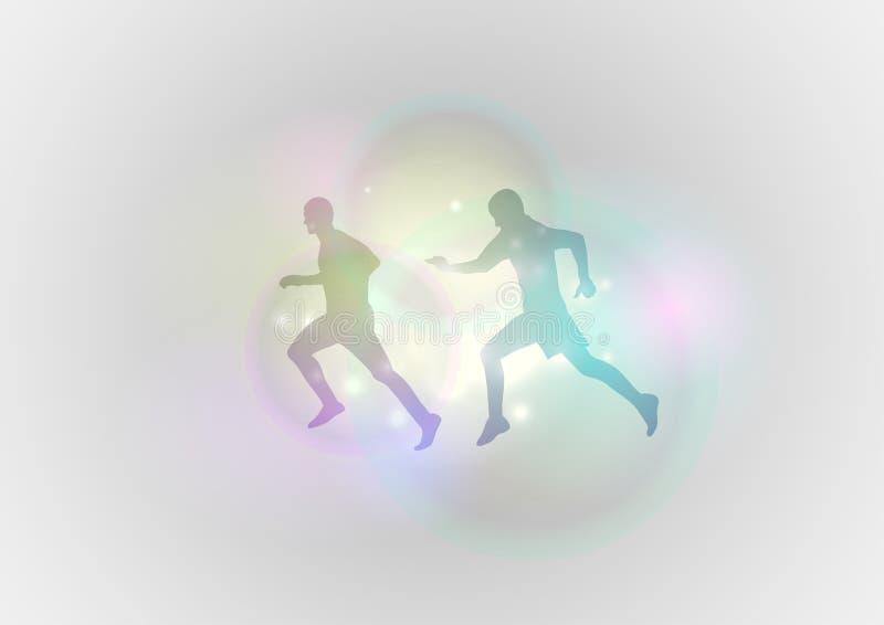 Läufer stock abbildung