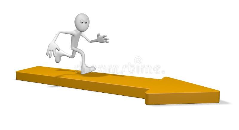Läufer vektor abbildung
