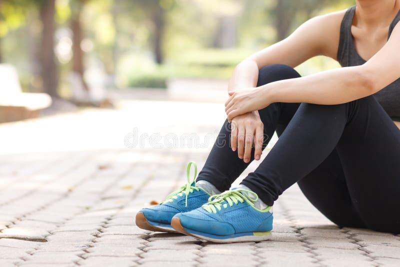 Läufer bereiten sich vor stockfoto