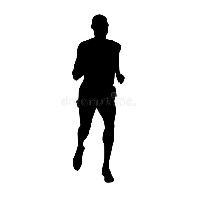Läufervektorschattenbild Athletenikone lizenzfreie abbildung