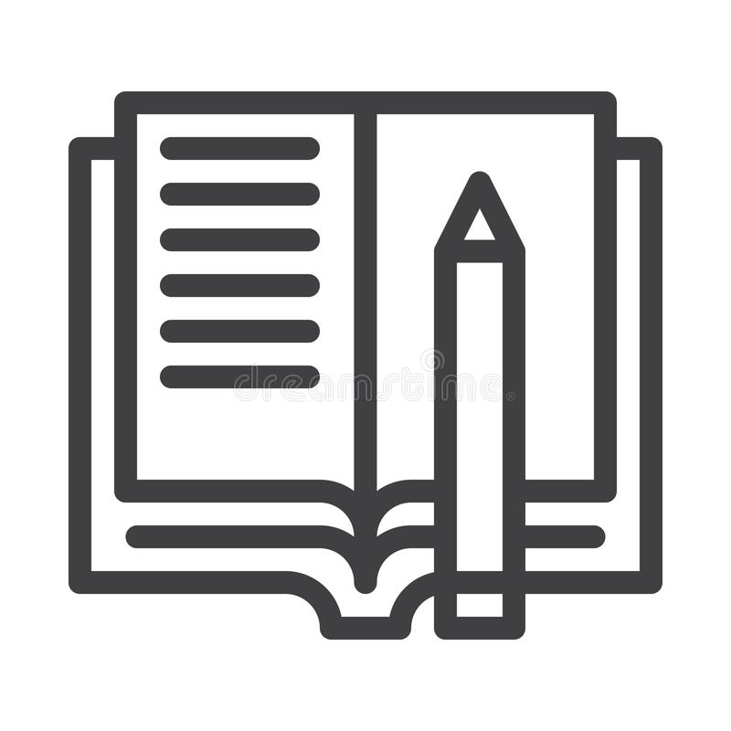 Läxalinje symbol vektor illustrationer