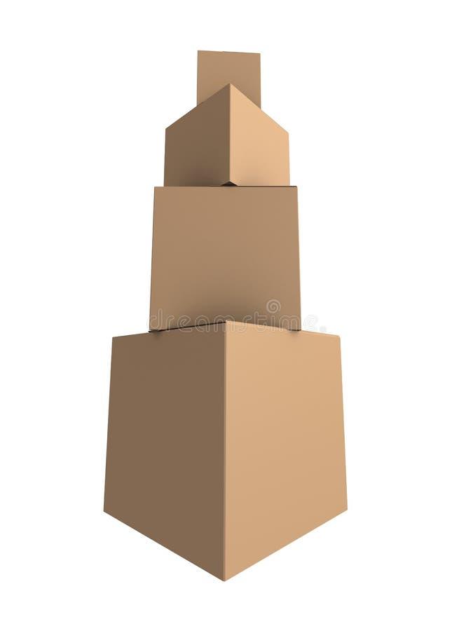 lådor vektor illustrationer