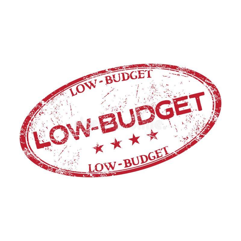 Låg budget- rubber stämpel royaltyfri illustrationer
