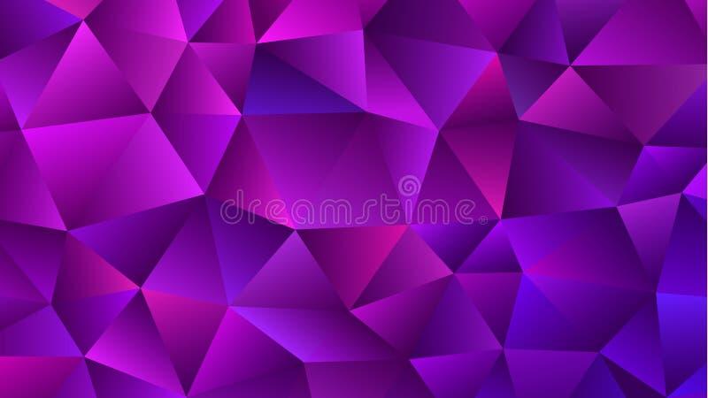 Låg Poly bakgrund för ametist Moderiktiga Violet Triangle stock illustrationer