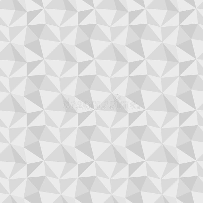 Låg poly grå sömlös bakgrund stock illustrationer