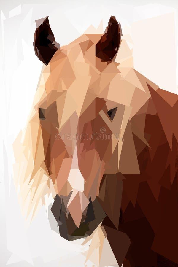 Låg poly häst stock illustrationer
