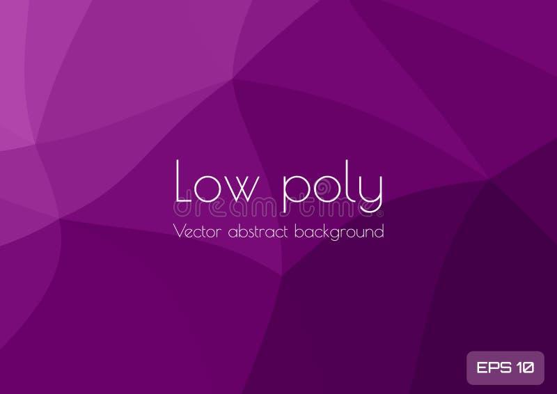 Låg poly mörk lila, purpurfärgad abstrakt bakgrund Geometrisk triangulering Texturerad mall vektor illustrationer