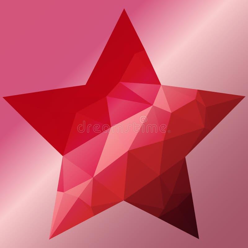 låg poly stjärna royaltyfri illustrationer