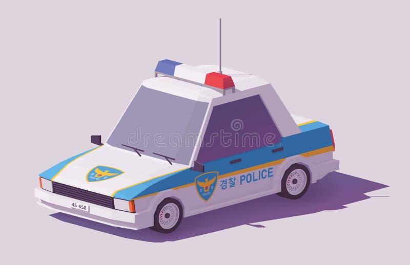 Låg poly sydkoreansk bil för vektor vektor illustrationer