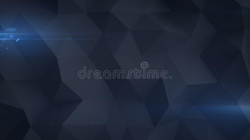 Låg polygonal grained svart tolkningillustration för yttersida 3D vektor illustrationer