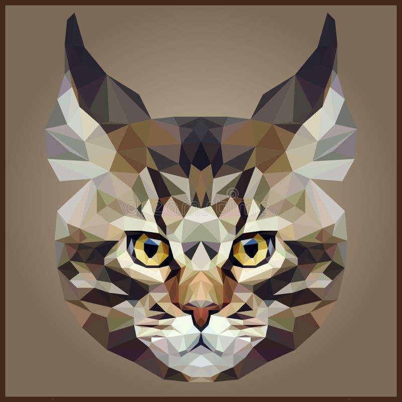 Låg polygonal katt vektor illustrationer
