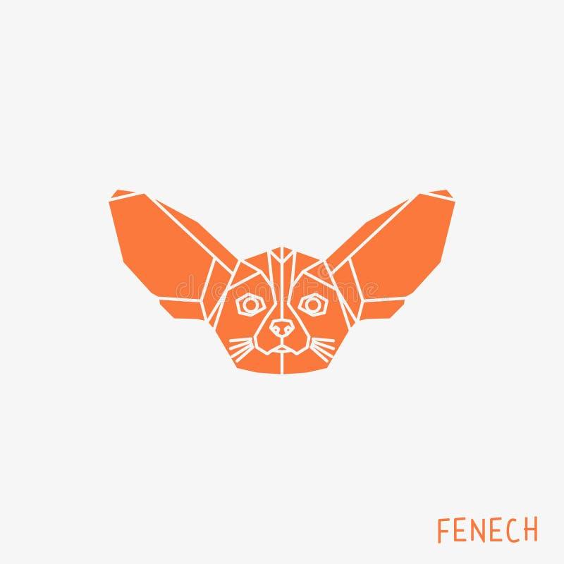 Låga poly Fenech royaltyfri illustrationer