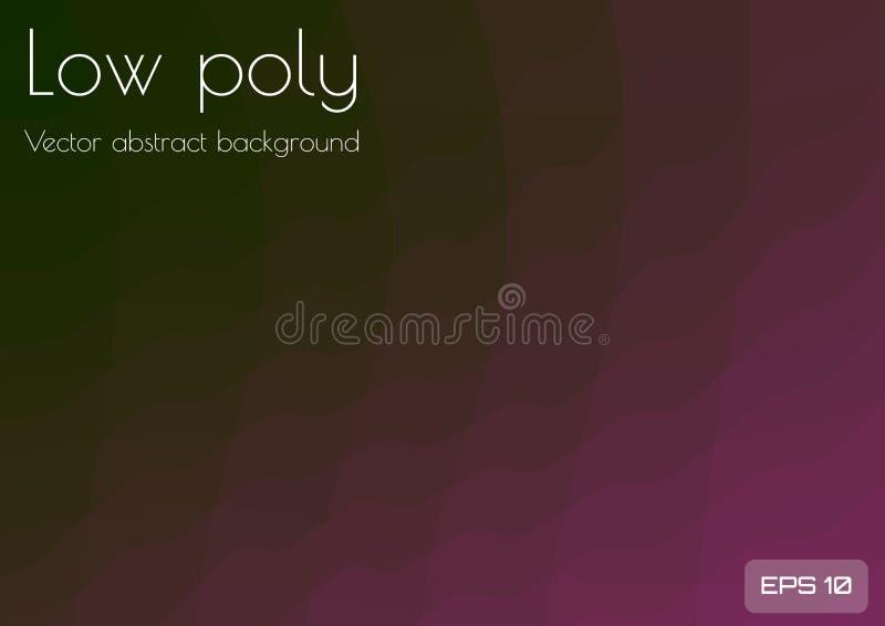 Låga poly mörka burgundy, purpurfärgad abstrakt bakgrund Geometrisk triangulering Texturerad mall stock illustrationer