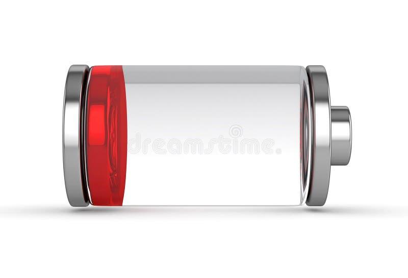 Lågt batteri royaltyfri illustrationer