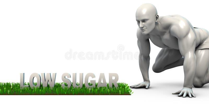 lågt socker royaltyfri illustrationer