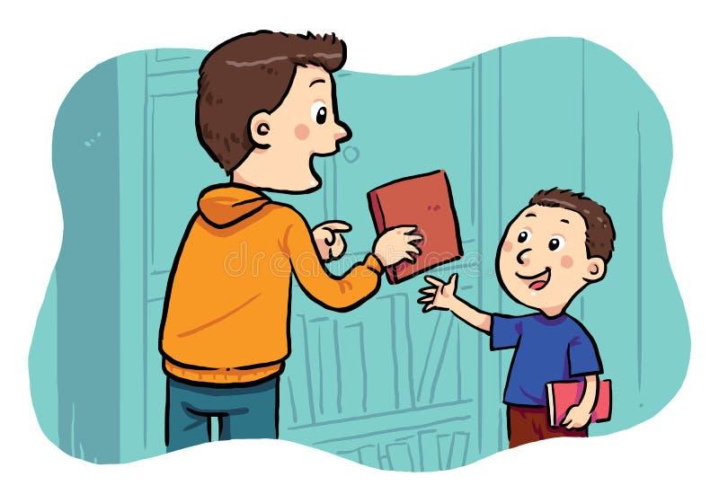 Låna en bok vektor illustrationer