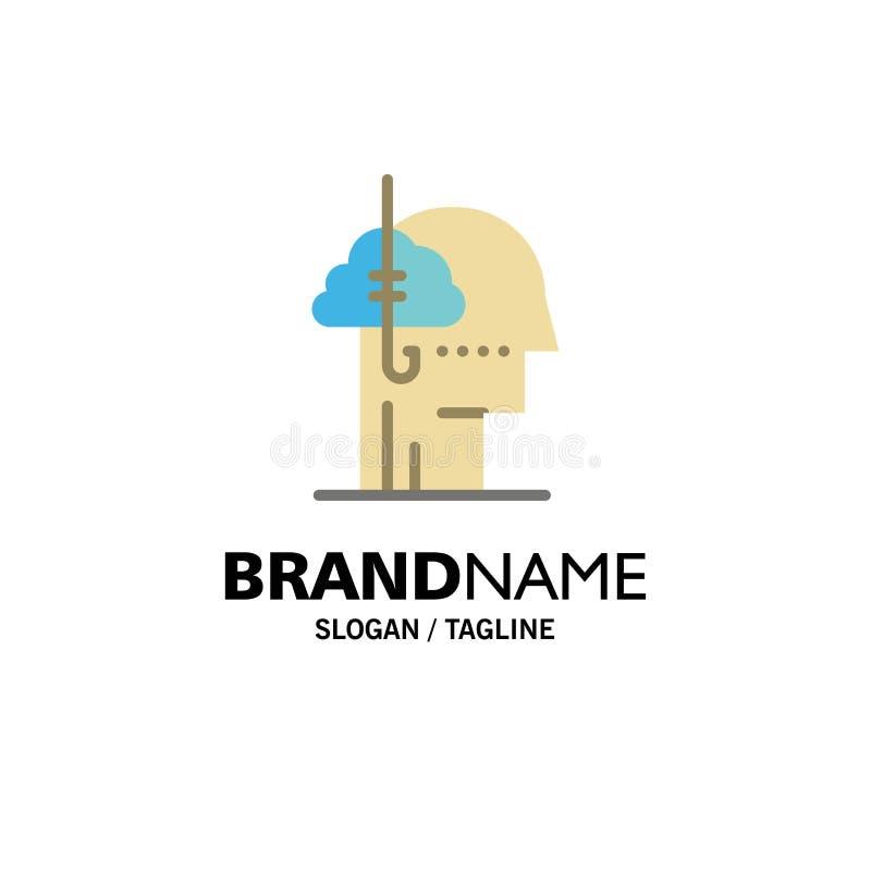 Låna idéer, böjelse, lås, vana, mänsklig affär Logo Template plan f?rg vektor illustrationer