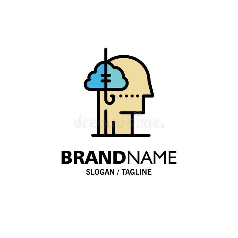Låna idéer, böjelse, lås, vana, mänsklig affär Logo Template plan f?rg royaltyfri illustrationer