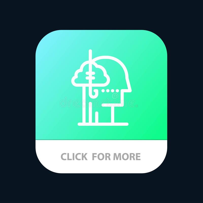 Låna idéer, böjelse, lås, vana, mänsklig mobil Appknapp Android och IOS-linje version royaltyfri illustrationer