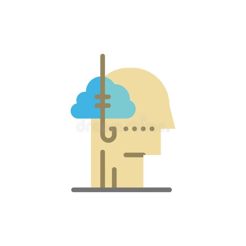 Låna idéer, böjelse, lås, vana, mänsklig plan färgsymbol Mall för vektorsymbolsbaner stock illustrationer