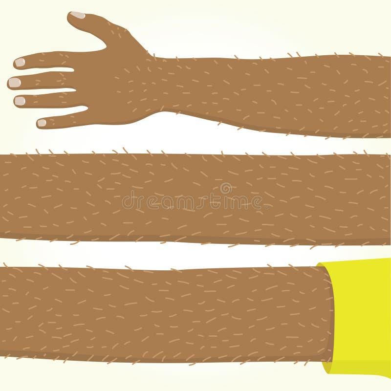 Lång afro amerikansk hand isolerad vektor vektor illustrationer