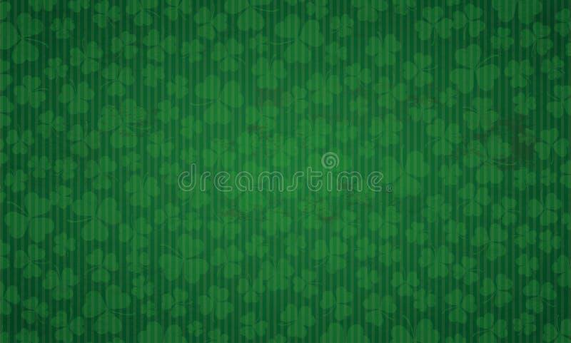 Lång dag för St Patricks för tappningbakgrundstreklöverer stock illustrationer