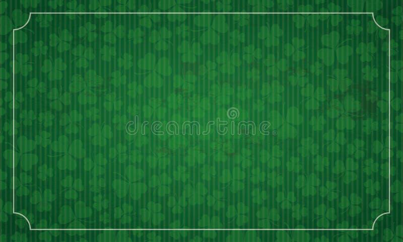 Lång dag för St Patricks för tappningramtreklöverer royaltyfri illustrationer