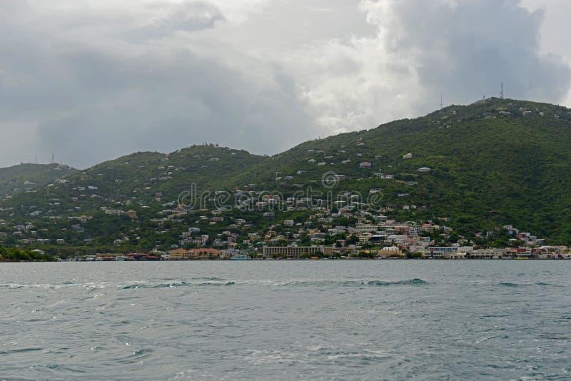 Lång fjärd på St Thomas Island, USA Jungfruöarna, USA royaltyfri fotografi
