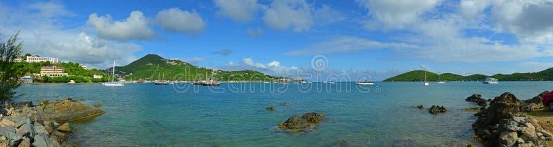 Lång fjärd, St Thomas, USA Jungfruöarna, USA fotografering för bildbyråer