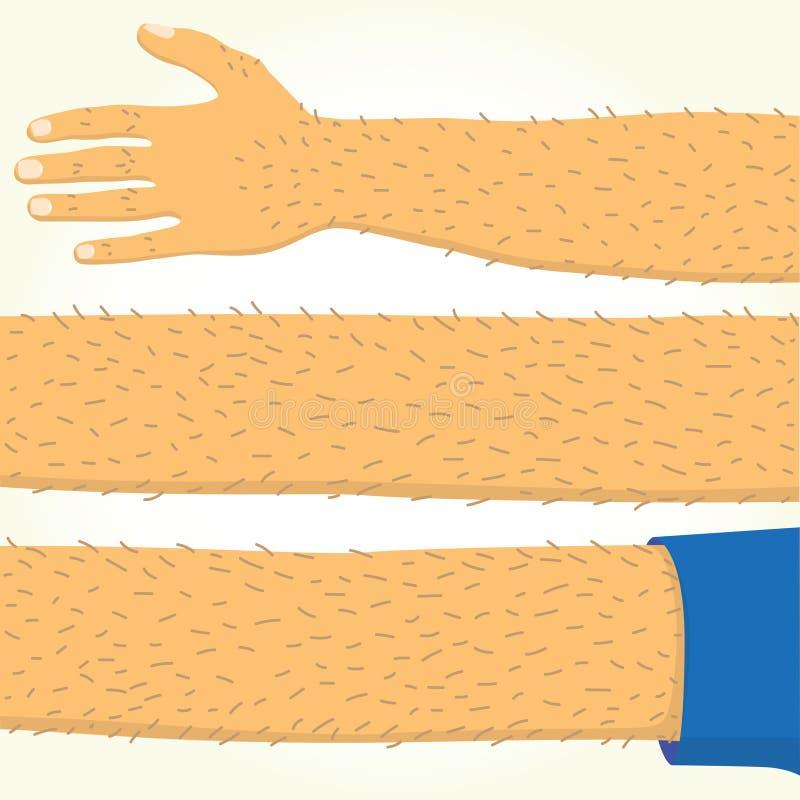 Lång hand isolerad vektor royaltyfri illustrationer