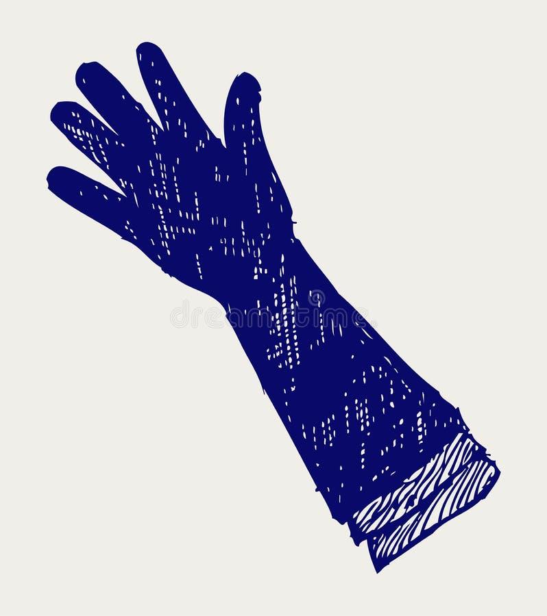 Lång handske. Klotterstil royaltyfri illustrationer