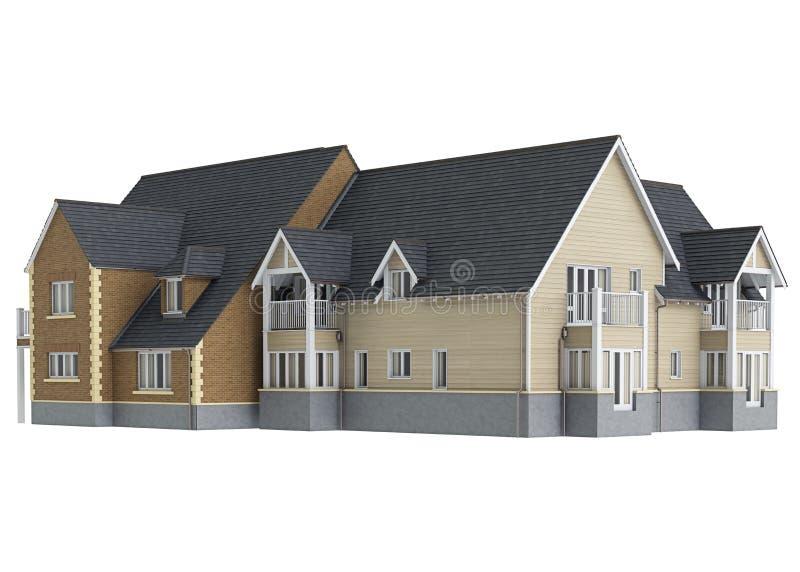 Lång husherrgård royaltyfri illustrationer