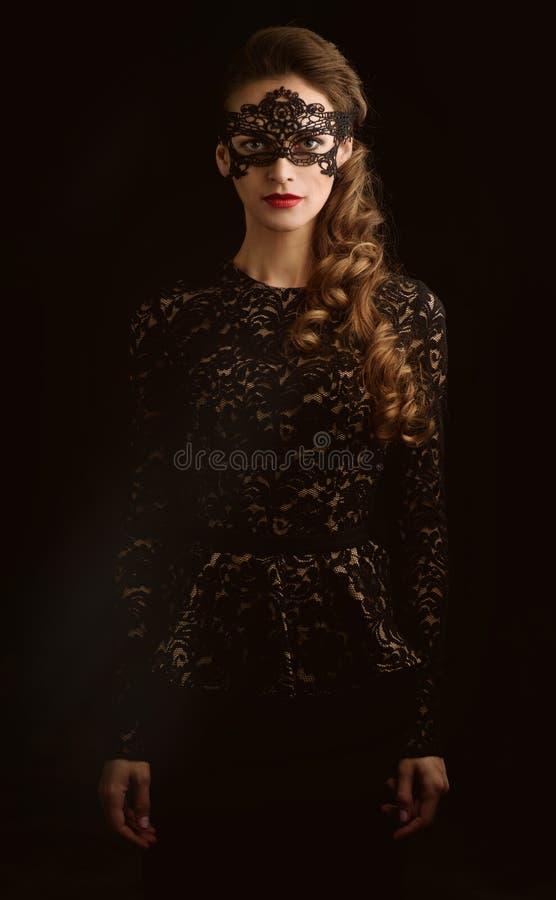 lång kvinna för härligt skönhethår arkivfoto