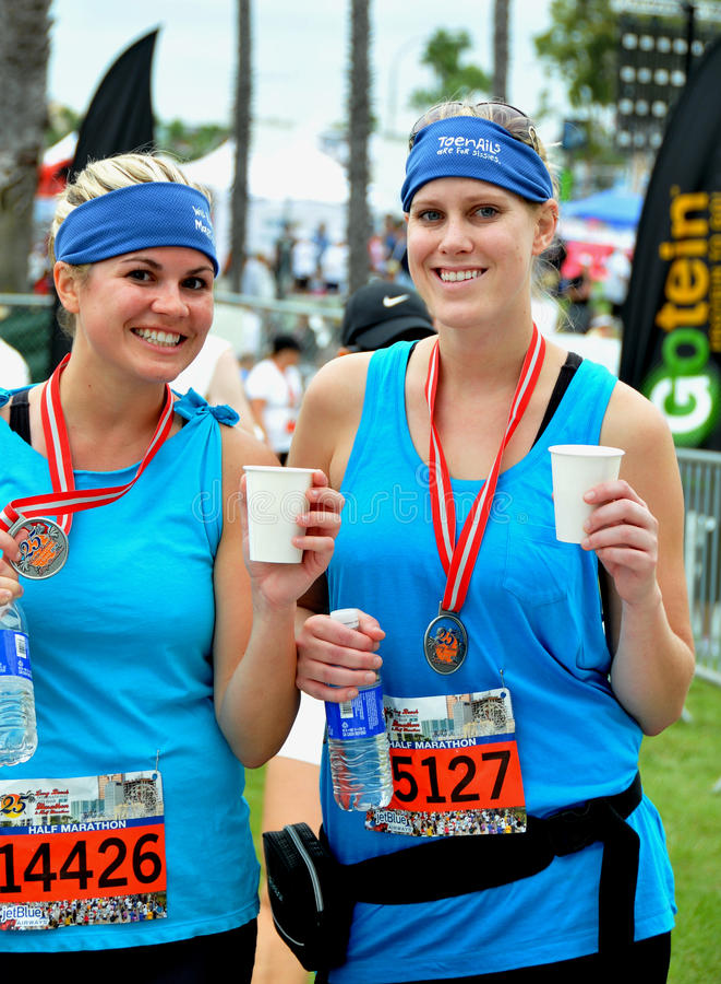 lång maraton för 25th strand 2009 arkivbilder