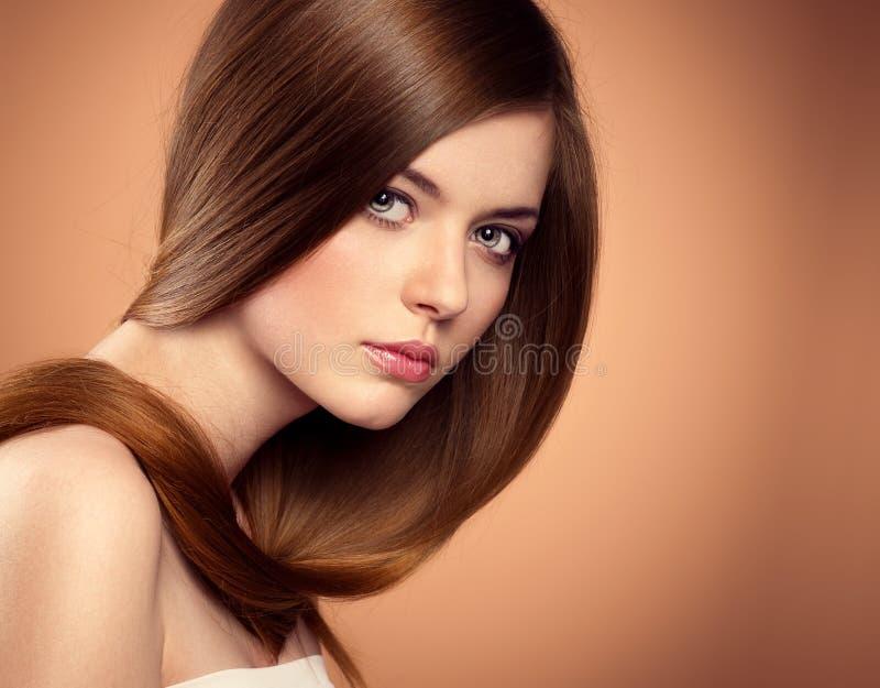 lång modell för hår royaltyfri foto