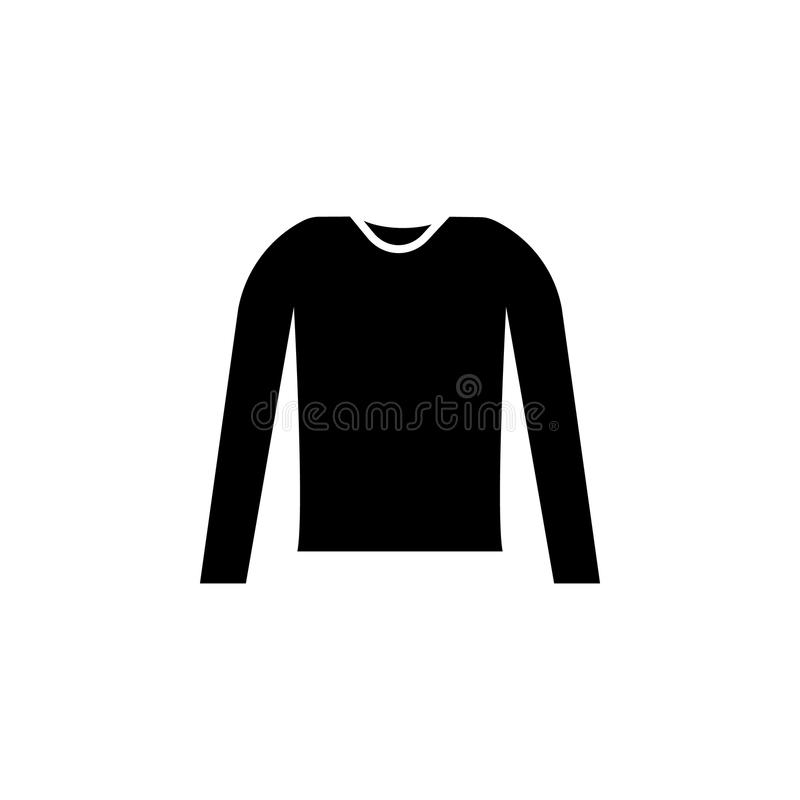 Lång muffskjortasymbol royaltyfri illustrationer