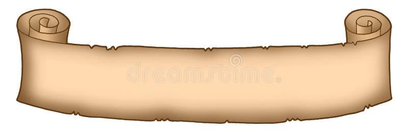 lång parchment 2 vektor illustrationer