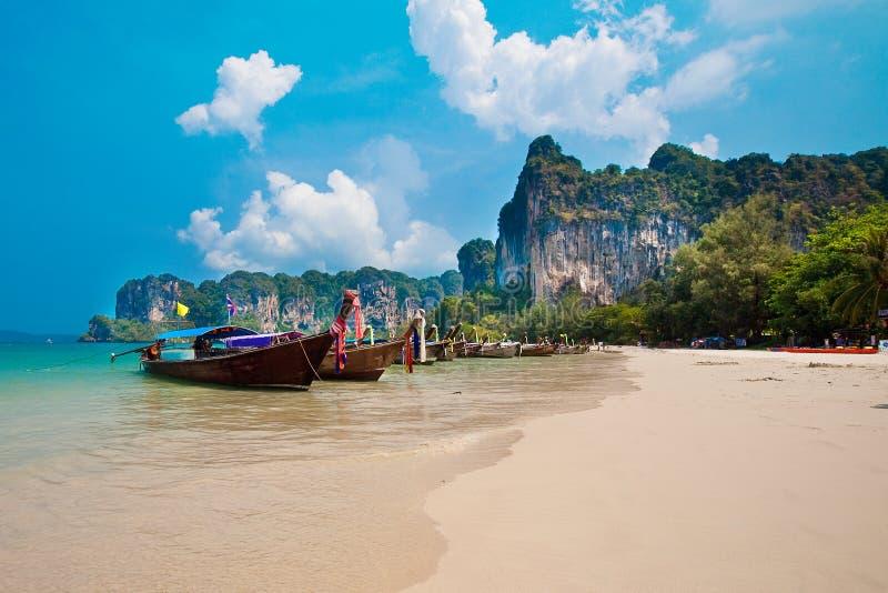 lång railay svan thailand för fjärdfartyg arkivbild