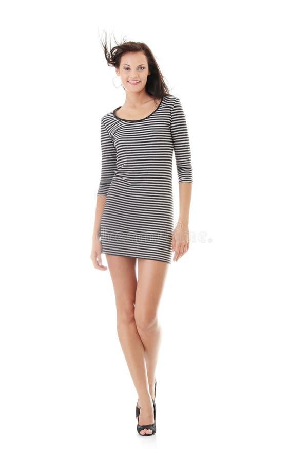 lång sexig kvinna för ben arkivfoton