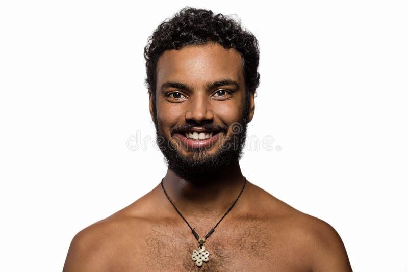 Lång skägg- och mustaschhipster royaltyfria foton
